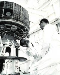 Working on ESSA-7, designated TOS-E prior to launch Photo