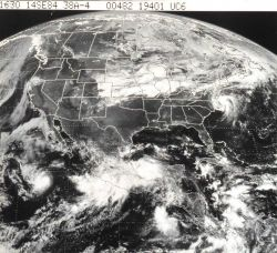 GOES view of North America Photo