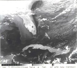 Infrared imagery of the Loop Current in the Gulf of Mexico and the Gulf Stream Photo