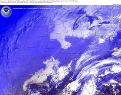 Dense fog in Texas coastal area and in the upper Mississippi Valley Photo