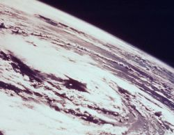 Hurricane Gladys as seen from Apollo 7 in its 99th revolution of the Earth Photo