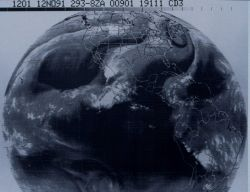 GOES water vapor imagery over United States and much of western hemisphere. Photo