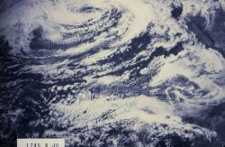 Low pressure center over the northeast Pacific Ocean. Photo
