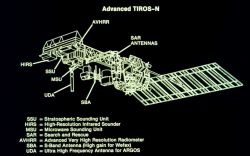 TIROS-N satellite Photo