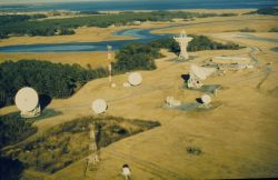 Satellite signal receiving station at Wallops Island, Virginia. Photo
