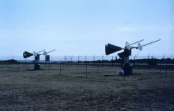 Satellite antennas at Wallops Island. Photo