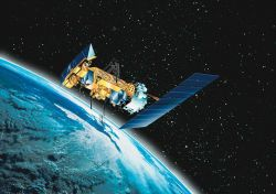 Graphic of NOAA-N polar-orbiting spacecraft Photo