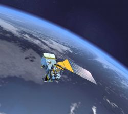 Artist's conception of NPOESS, NOAA Polar-orbiting Operational Environmental Satelllite System, the next generation of low earth orbiting environmenta Photo