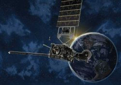Artist's conception of GOES-R environmental satellite. Photo