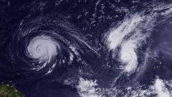 Hurricanes Igor and Julia are both category 4 hurricanes at this time Photo
