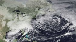 A developing low off the Mid-Atlantic states that brought winter storm conditions to parts of North Carolina, South Carolina, Georgia, and Tennessee Image