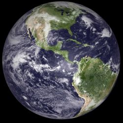 A hemispheric view on Earth Day 2010. Image