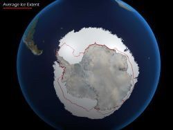 Antarctic ice extent in June of 2010 were much higher than what had been observed historically from satellites Image