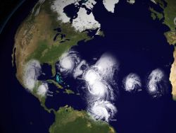 A composite image of 2010 hurricanes Image