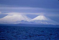 Pavlof and Pavlof Sister volcanoes Photo