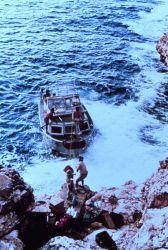 Offloading gear at Navassa Island, Caribbean Sea Photo