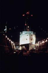 NOAA Ship SURVEYOR in drydock. Photo