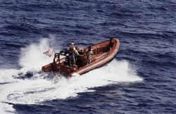 Rigid Inflatable Hull Boat off MALCOLM BALDRIGE. Photo