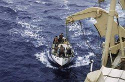 Whaleboat off SURVEYOR, Bob Rojecki coxswain Photo