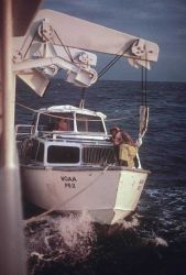 Not much of a lee, Captain! LCDR Dave Waltz, bowhook Photo