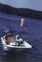 Boston whaler outfitted for shallow water hydrography Photo