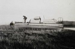 Survey launch on Sacramento River Delta. Photo