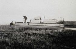 Survey launch on Sacramento River Delta. Photo