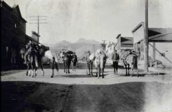 Observing party leaving Pony, Montana, for Station Jefferson Photo