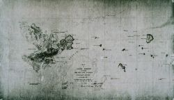 Map of Salem Harbor including the city and islands Photo
