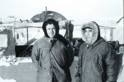Arctic Field Party: Robert Earle on left, Don Jones on right. Image