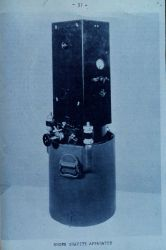 Brown Gravity Meter - a pendulum apparatus. Photo