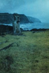 Statue on coast of Easter Island Photo