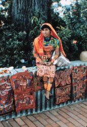 A Panamanian Indian lady dressed in her finery Image
