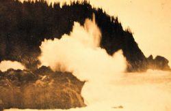 Alaska breakers as seen on the south coast of the Kenai Peninsula Image