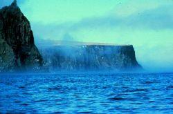 A fog-bound Aleutian island Photo