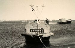 Arctic Field Party hydrographic launch - a converted LCVP Image