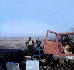 Vernon Burns preparing Wild T-4 for observations Photo