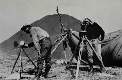 Signaling with heliograph near Monument 92 Photo