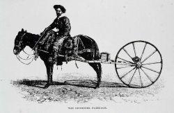 Army surveyor with odometer carriage Image