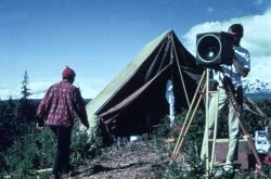 Shore camp for Tellurometer and angle measurements Photo