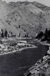 Cable car crossing on the Salmon River Photo