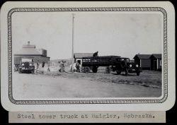 Steel tower truck at Haigler, Nebraska Photo