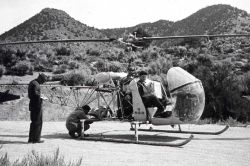 Loading for a drop on Owens Peak Photo