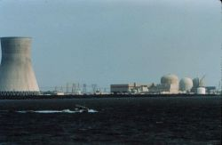 Jensen Launch on line dwarfed by nuclear power plant cooling tower Photo
