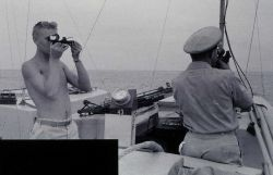 Launch hydrography three-point sextant fix Photo