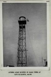 Shoran antenna installed on radar tower Photo