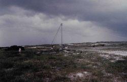 Erecting ARGO navigation tower Photo