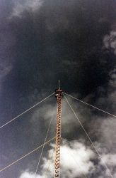 Erecting ARGO navigation tower Photo