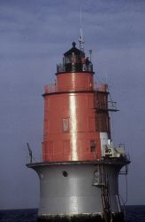 Microwave navigation instrument setup on lighthouse in Delaware Bay Photo