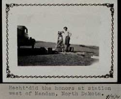 Hecht was the observer at this station in North Dakota Photo